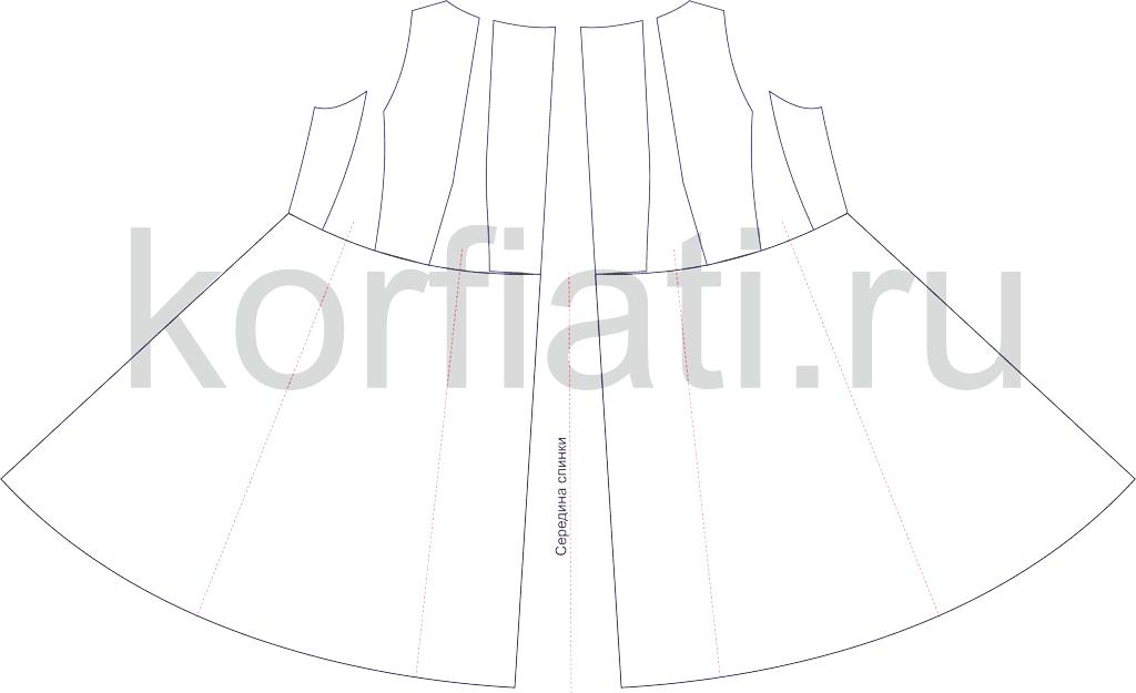 Пошив платья - моделирование спинки