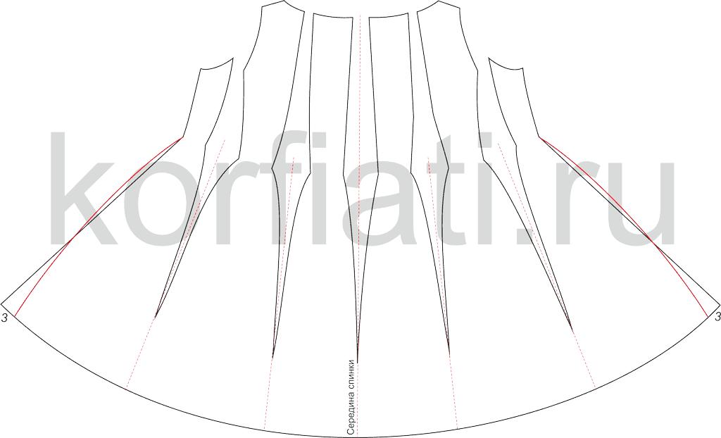 Пошив платья - выкройка спинки