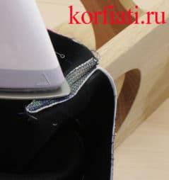 Юбка с разрезом на подкладке