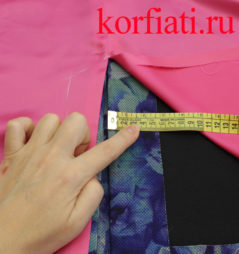 Обработка разреза юбки подкладкой
