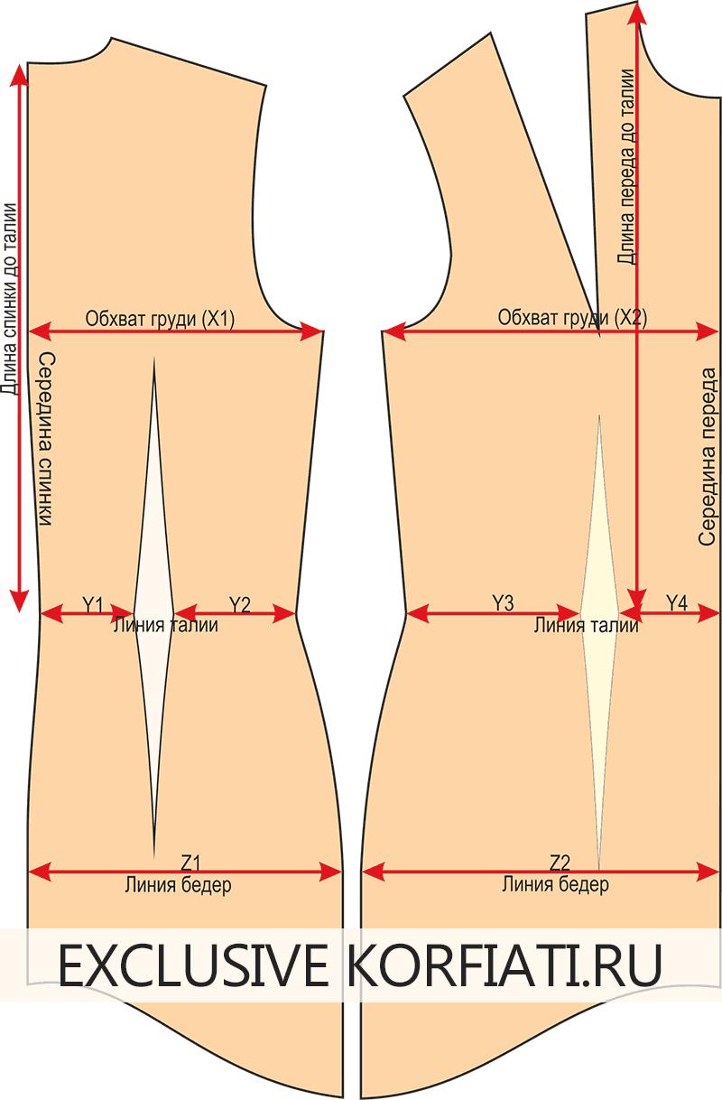 Модели платьев с выкройкой и 40 44 размера