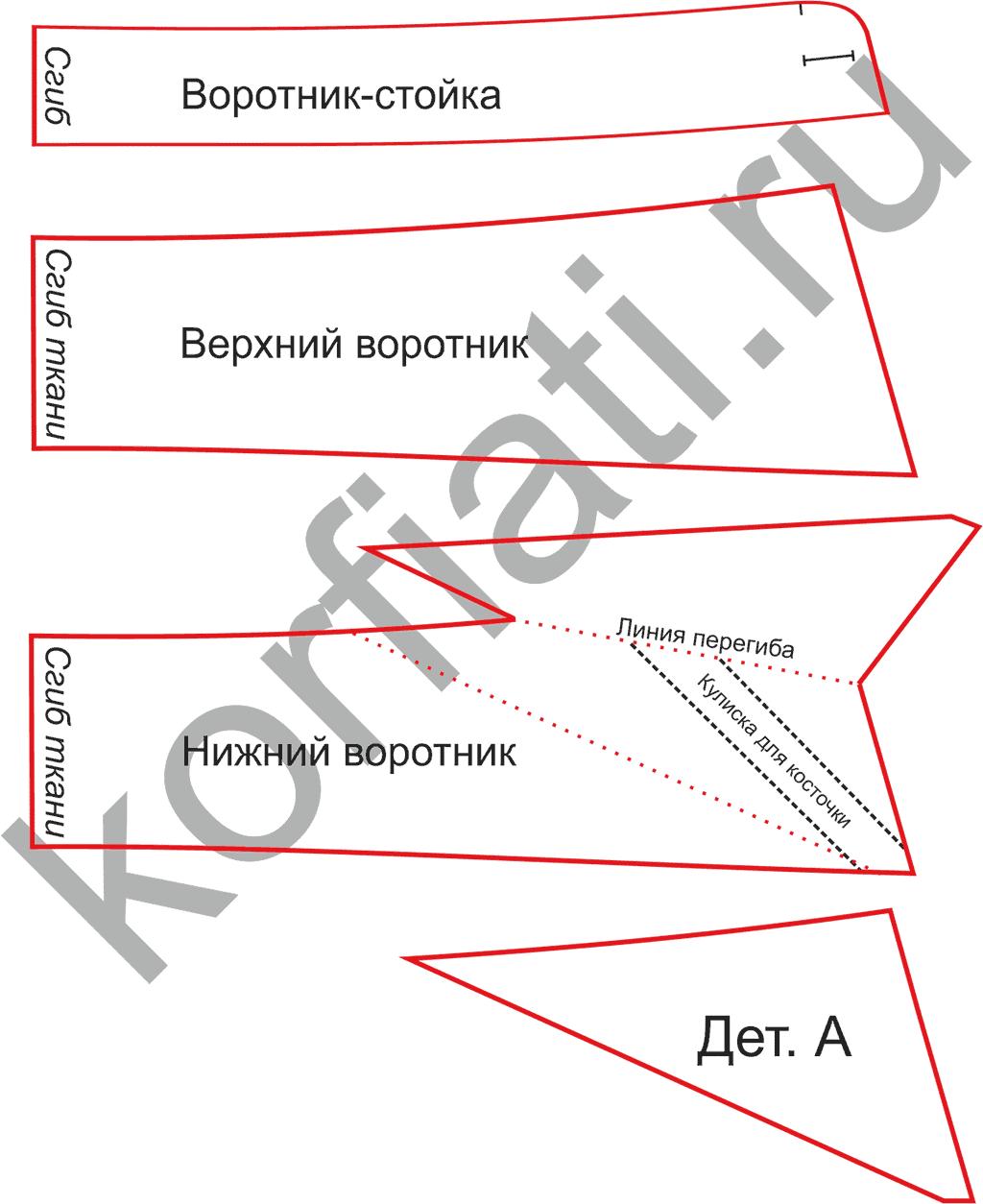 Выкройка воротника треугольный фото 225