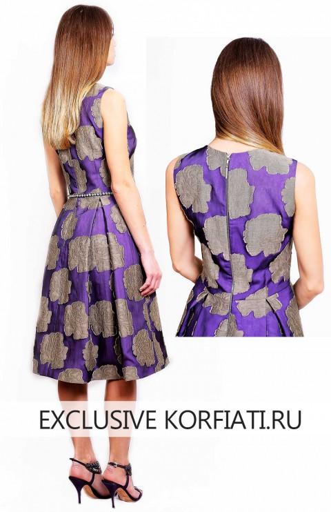 Коктейльное платье - вид сзади