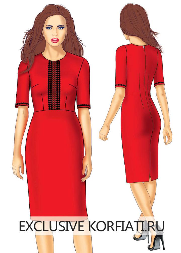 Выкройка платья с короткими рукавами