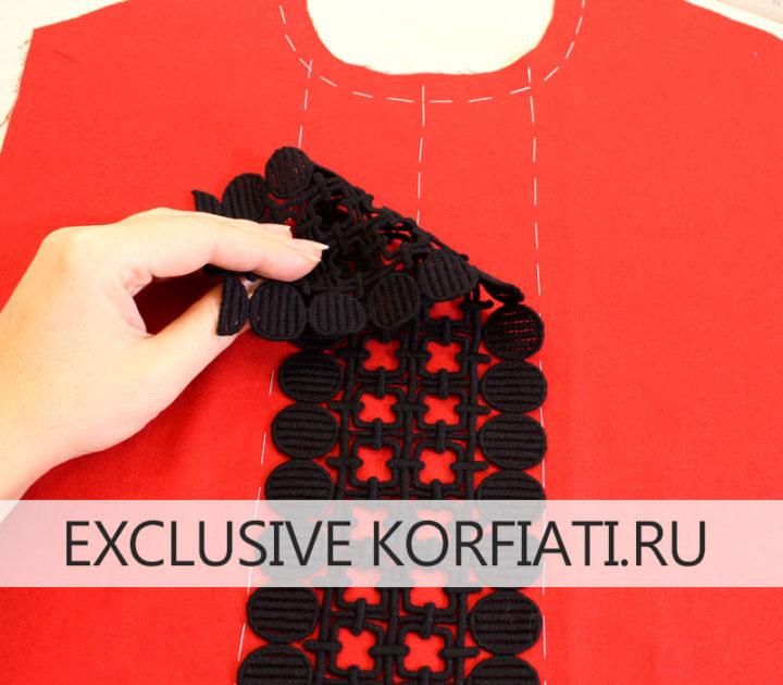 Выкройка платья с короткими рукавами - пошив