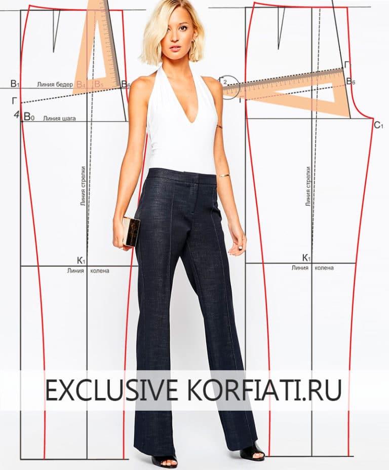 Как сшить красивые брюки женские 98