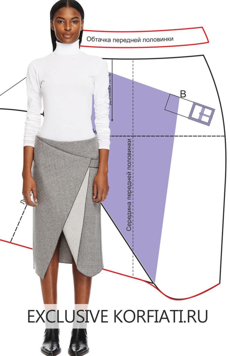Асимметричные юбки своими руками