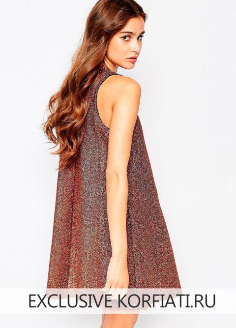 Выкройка свободного платья с симметричным подолом
