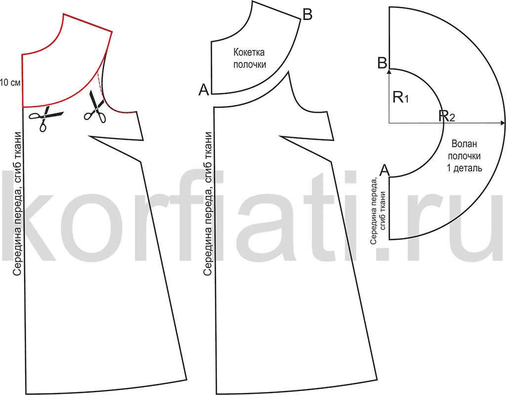 Сшить платье на плечах выкройка