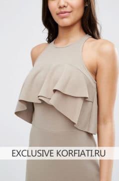 Выкройка открытого платья