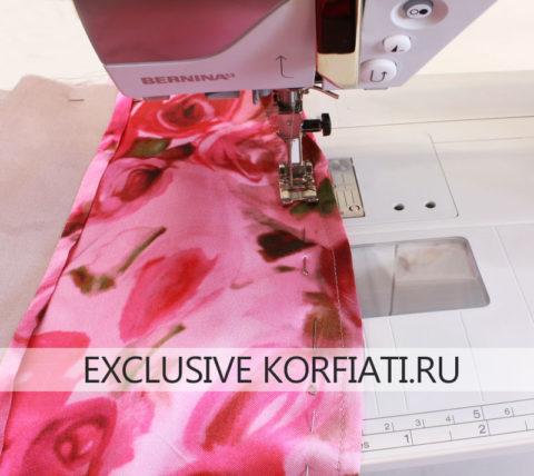 Обработка юбки подкладкой - швы