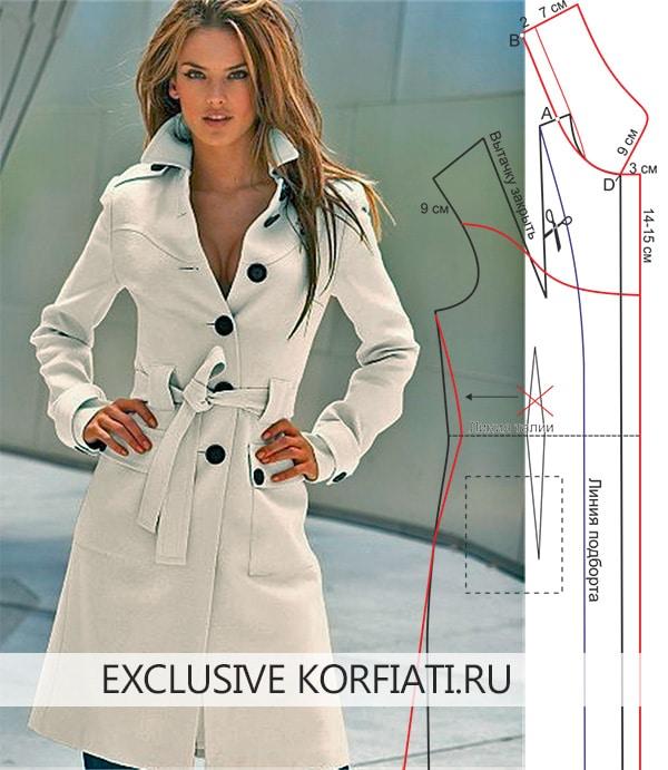 Пальто со шлицей