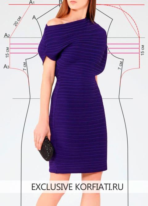 Как сшить платье гофре