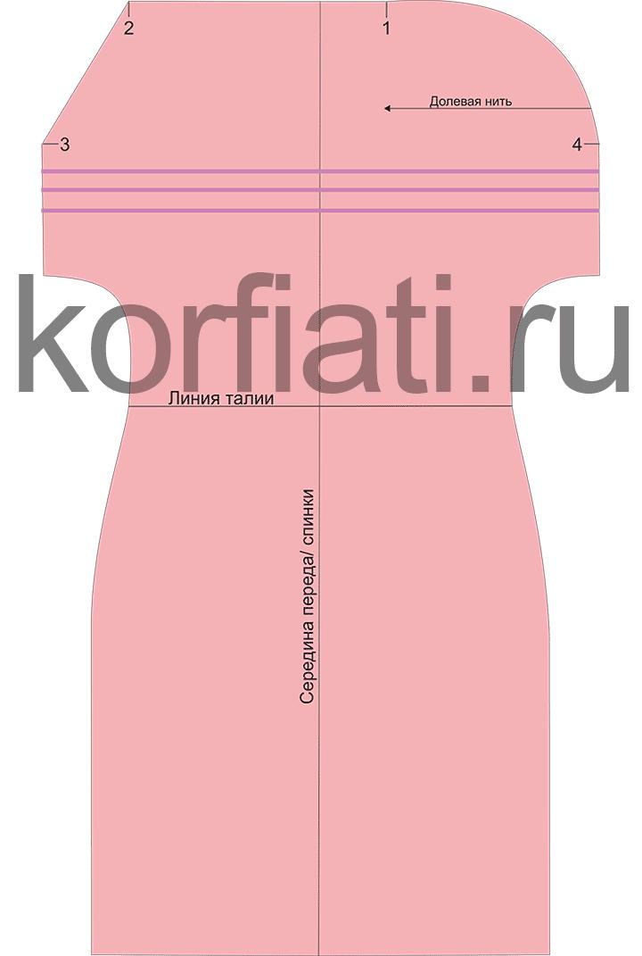 Выкройка платья гофре