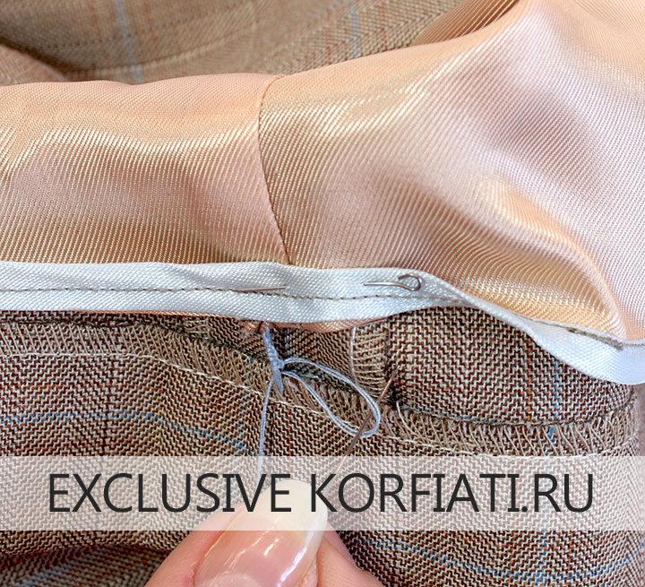 Закрепка на подкладке юбки