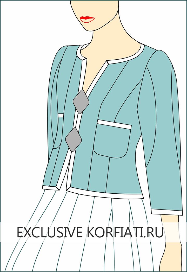 Жакет в стиле Шанель - эскиз