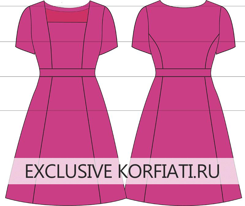 Выкройка платья большого размера