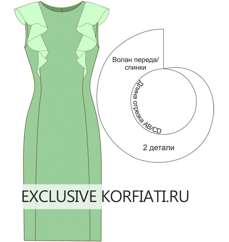 Как сделать волан для платья
