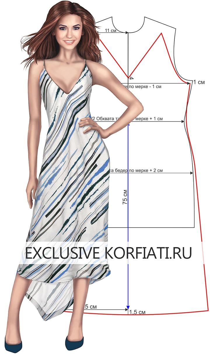 Как сшить выкройка платье-сарафан фото 720
