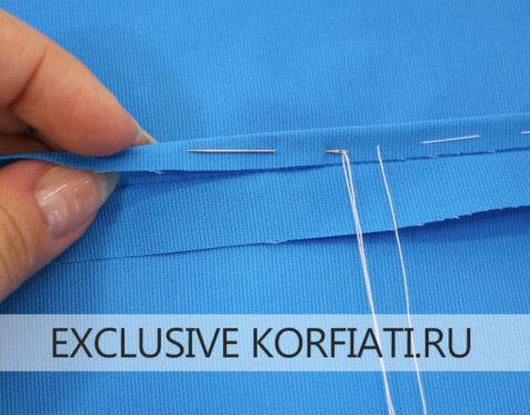 Французский шов - обработка припусков на прозрачных тканях