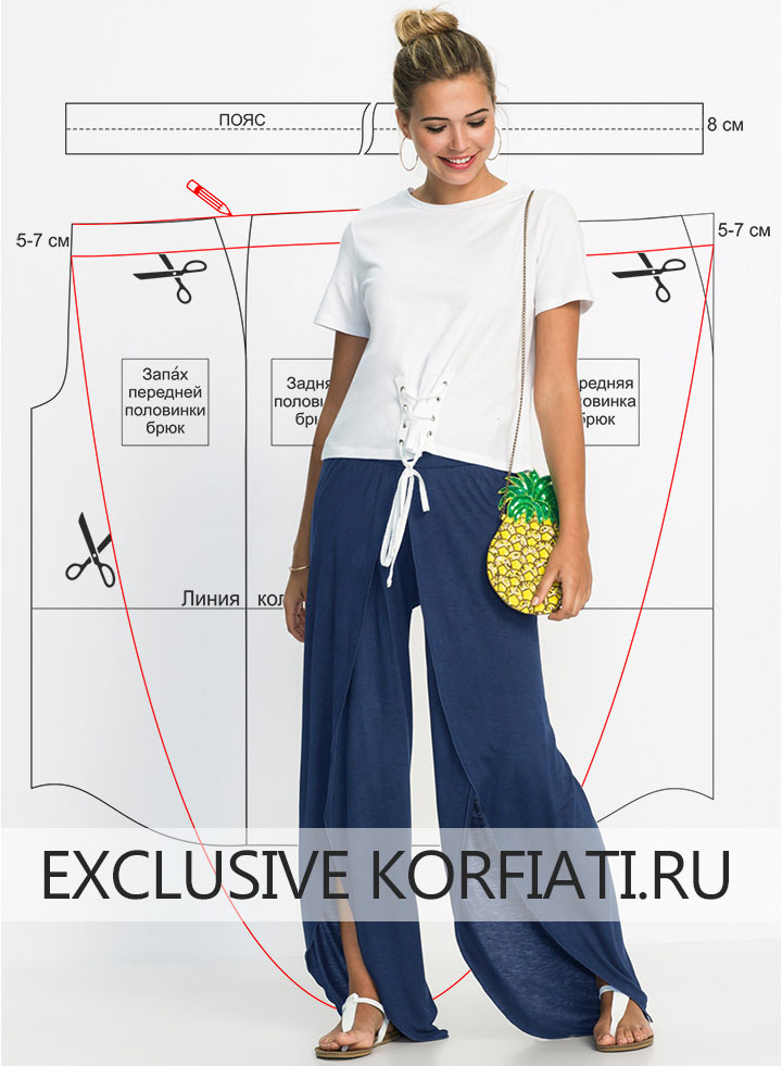 Выкройка трикотажных брюк