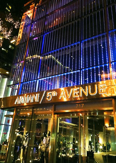 Бутик Emporio Armani Нью-Йорк, 5-я Авеню