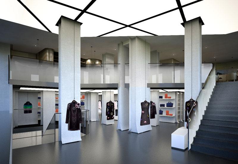 Реконструированный бутик Emporio Armani. Париж, бульвар Сен-Жермен