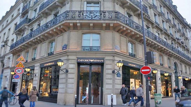 Emporio Armani. Париж, бульвар Сен-Жермен