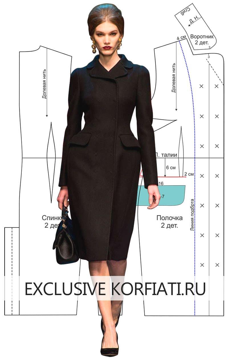 Выкройка пальто от Dolce & Gabbana
