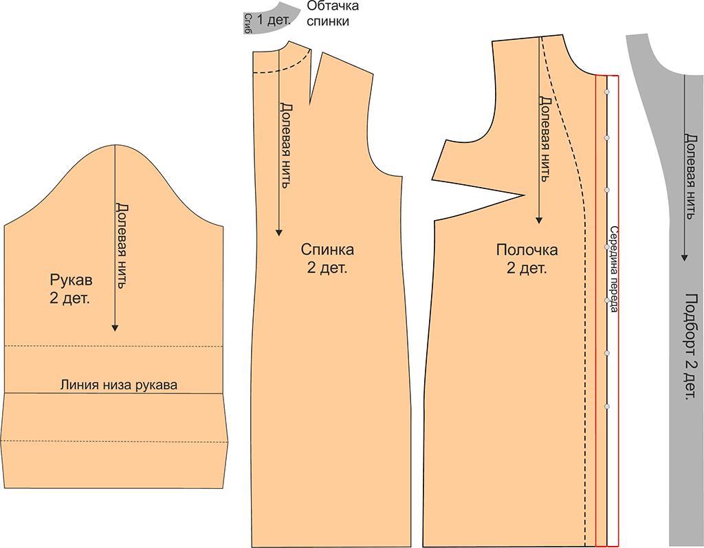 Как сшить из подкладочной ткани