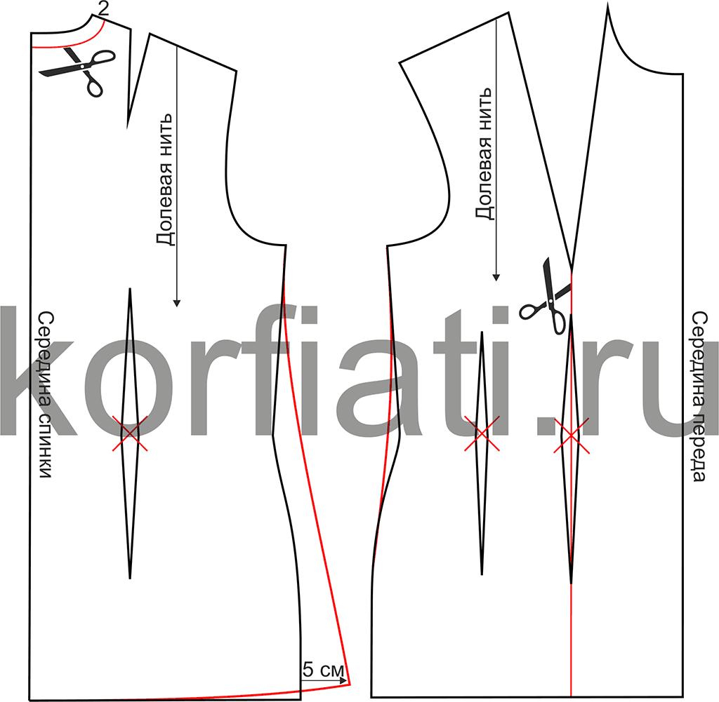 Выкройка жакета без подкладки на полную фигуру