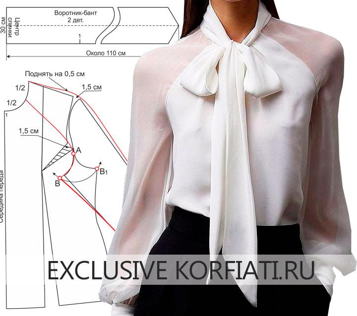 80a2327c681 Фасон моделируется по базовой выкройки блузки и выкройке одношовного  рукава. Подробное моделирование рукава-реглан мы давали вам в одном из  предыдущих ...