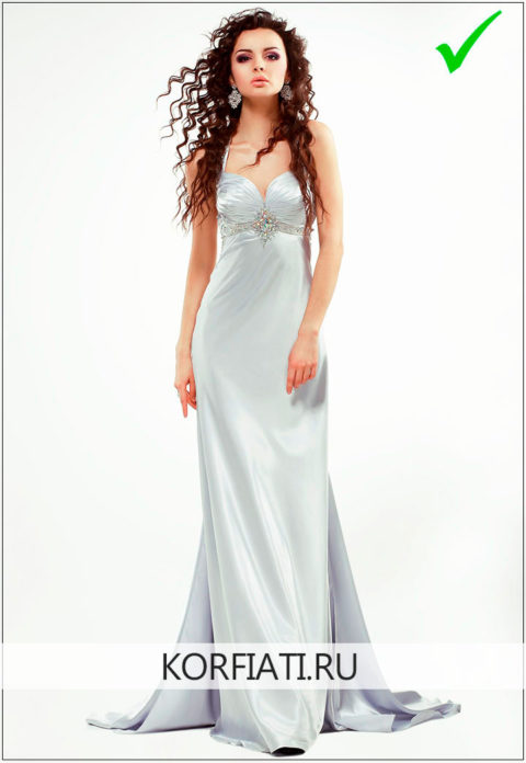 Пример студийного фото на конкурс платьев
