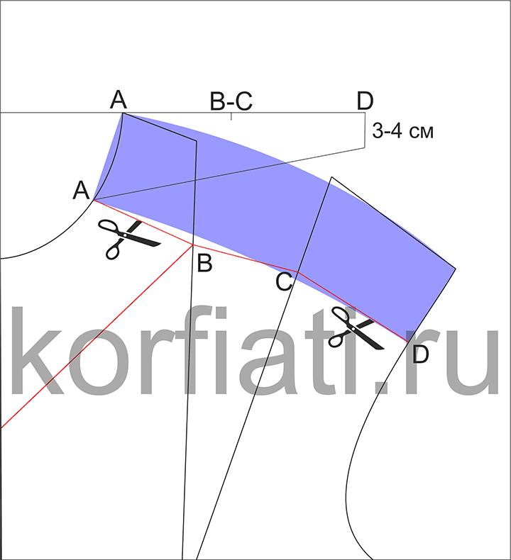 Моделирование лифа с драпировкой на плече