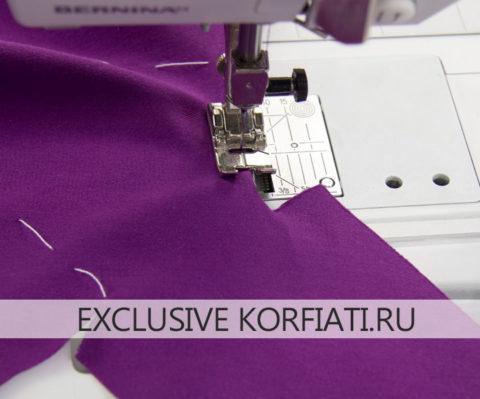 Обработка воротника с цельнокроеным галстуком - мастер-класс