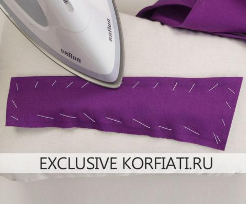 Обработка отлетного воротника платья