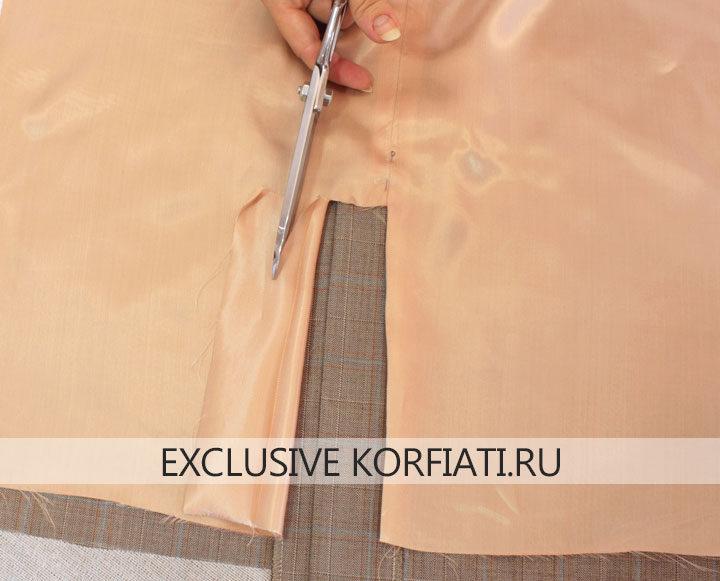 Юбка с воланом - подготовка подкладки