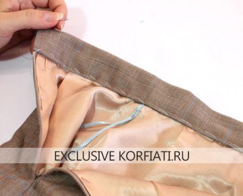 Пояс юбки с воланом