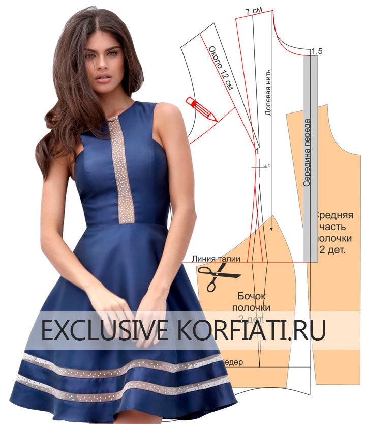 Выкройка отрезного платья