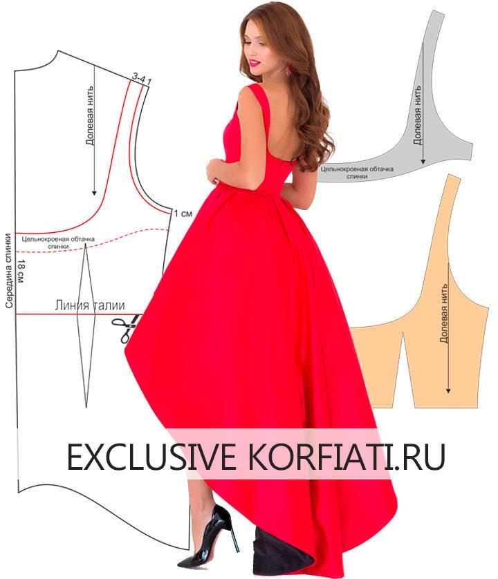 Построение выкройки платья для выпускного вечера