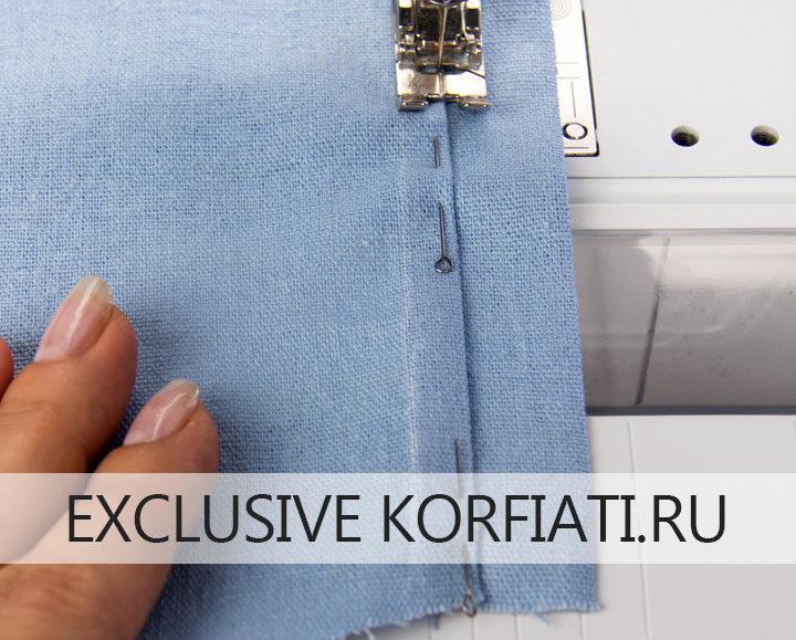 Как сшить платье-рубашку - фото - отстрачивание планки