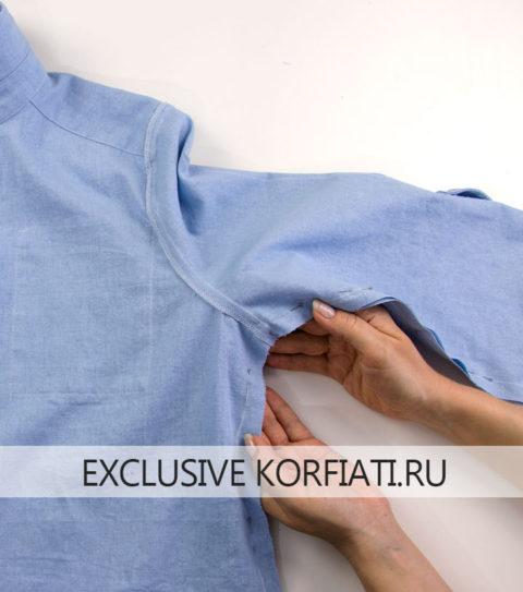 Как сшить платье-рубашку - фото - нижний шов