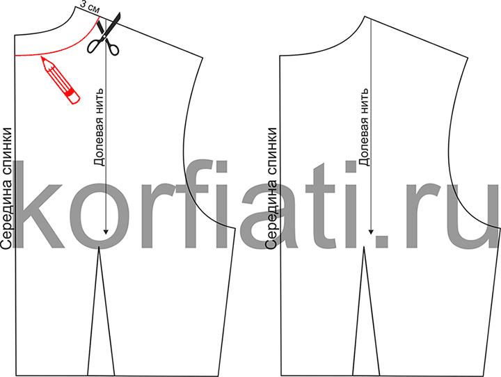 Моделирование спинки легкого платья своими руками