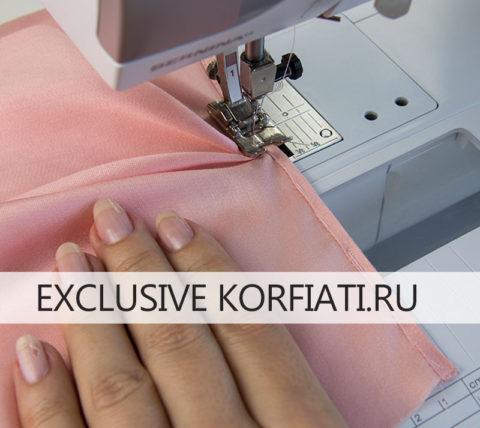 Выкройка приталенной блузки с вытачками - обработка разреза рукава