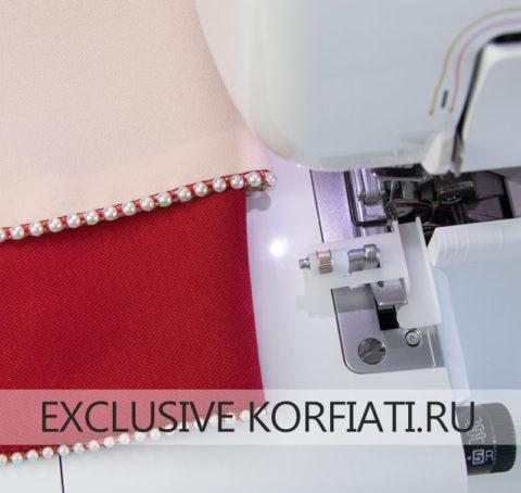 Оверлочная лапка для притачивания бисерных шнуров