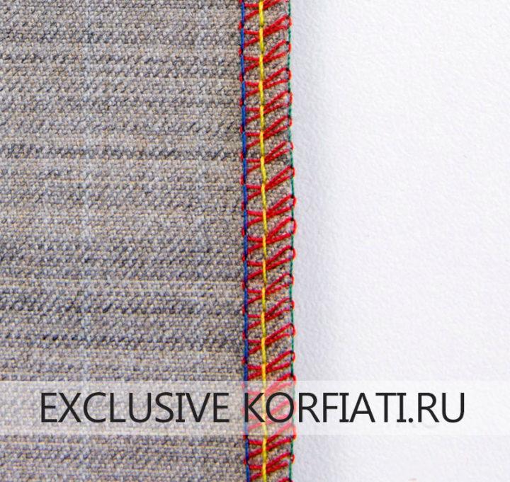 4-х ниточный шов на смесовой шерстяной ткани