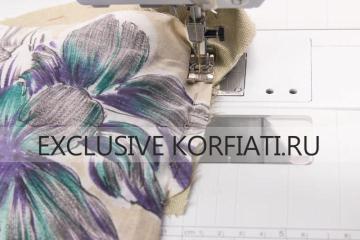 Обработка шлицы двухшовного рукава конвертом - стачной шов