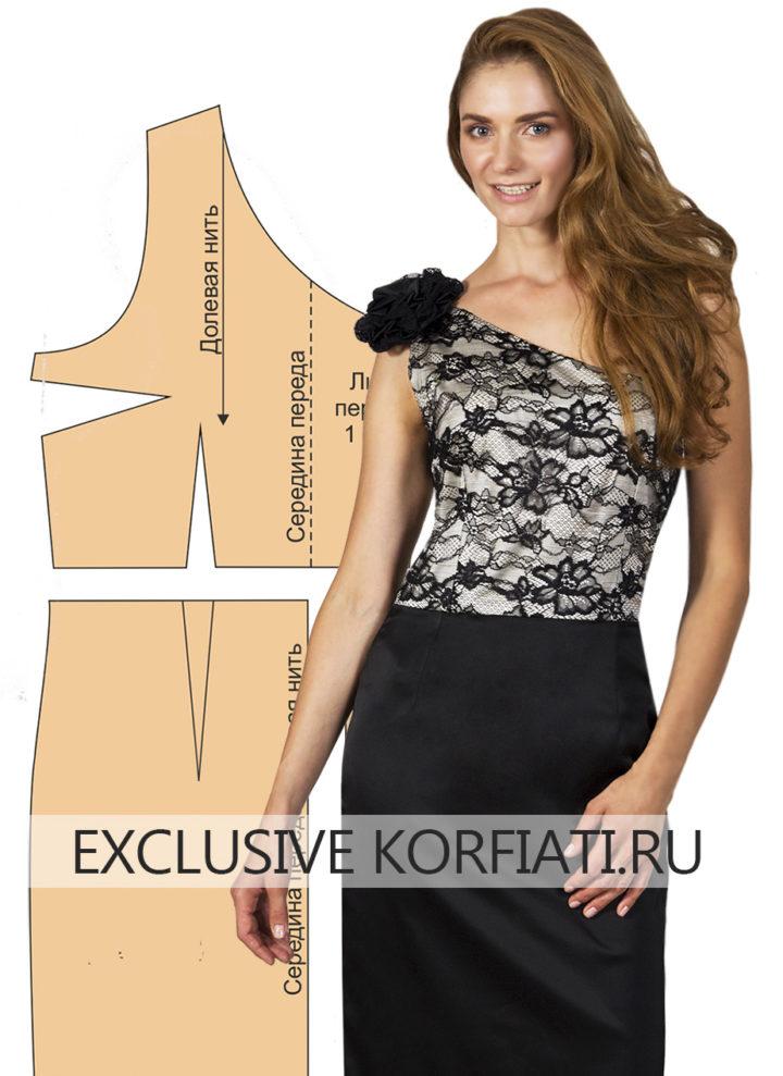 Платье с прямой юбкой выкройка