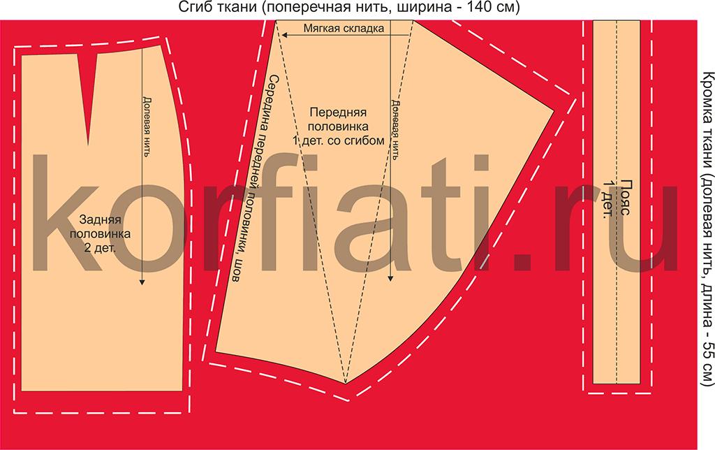 8af5aa491c6 Юбка с драпировкой качели - выкройка Анастасии Корфиати