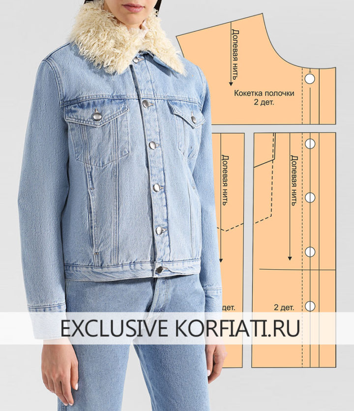 Выкройка джинсовой женской куртки
